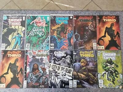 DC Saga of the Swamp Thing 21 & 25 - First Constantine - 10 Comics! Alan Moore!