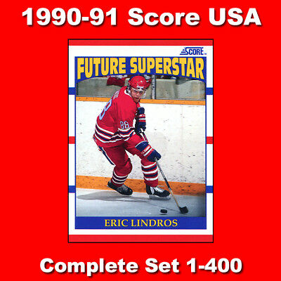 1990-91 Score American USA Hockey Complete Set 440 cards Lindros RC & more