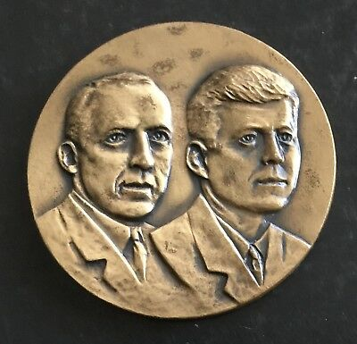 1961 Denver Colorado Postmasters of The United States Medal Kennedy JFK