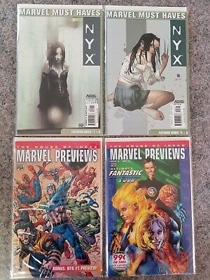 NYX 1, 2, 3, 4, 5 - Marvel MUST-HAVE Collection PLUS First 2 Ads of NYX & X-23!