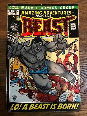 Amazing Adventures #11 1St Furry Beast Marvel Comics Fn+