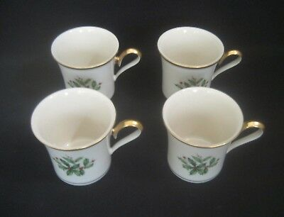 LENOX Fine China HOLIDAY Dimension Pattern  4-COFFEE or HOT TEA MUGS 1st Quality