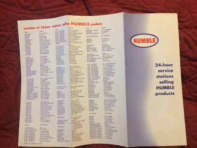 Humble 24 Hour Service Stations Locations Brochure