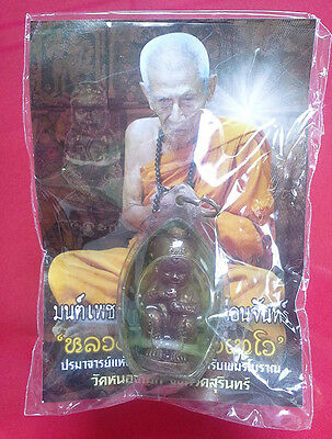 Guman Thong in Oil LP INN Talisman Good Lucky Wealth Rich Thai Buddha Amulet