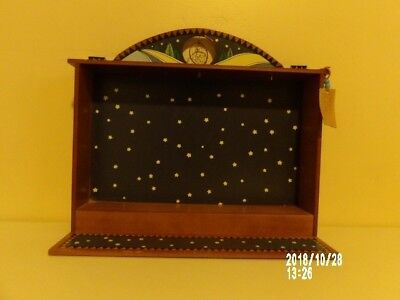 Enesco Wooden Shadow Box Hanging Dream catcher Friends of the Feather Display