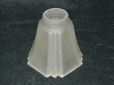 Vintage Frosted Art Deco Glass Shade