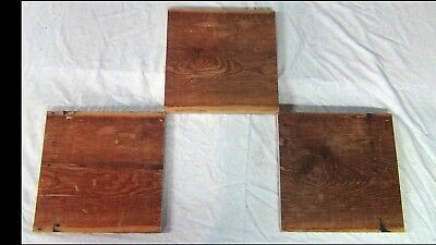 Vtg Barn Old Reclaimed Wood 3 Boards Craft Weathered Rustic Antique 11 In Specks