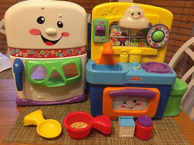 Fisher Price Laugh Learn Kitchen Playset Shape Sorter Complete Light Sounds 19 99 Picclick