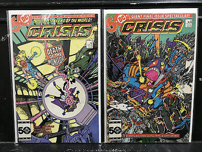 Lot of 2 Crisis on Infinite Earths #4 12 (1985 DC) Combined Shipping Deal!