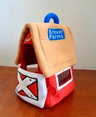 "Breyer Farms Plush Fabric Carry Along Horse Stable Barn Velcro Open Gate 8""h"