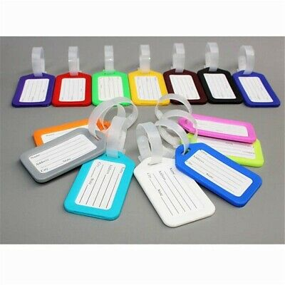 Travel Luggage Bag Tag Plastic Suitcase Baggage Office Name Address ID Label