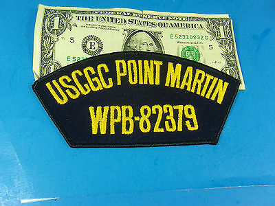 United States COAST GUARD PATCH, USCGC POINT MARTIN WPB 82379 Sew on patch