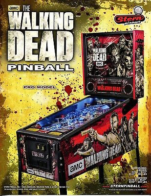 Walking Dead Pro Model Stern Pinball Flyer/ Brochure / Ad