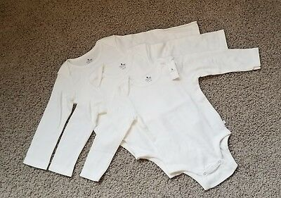 NWT BABY GAP Long-Sleeve FIRST FAVORITE BODYSUIT 3-Pack SIZE Boy/Girl 18-24 mos