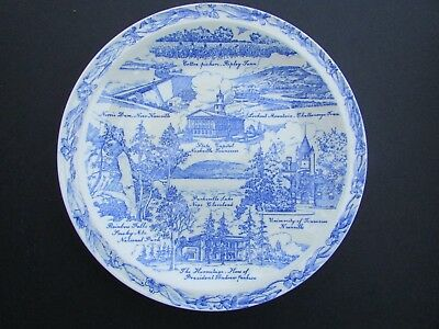 RARE Vernon Kilns Collector Plate: TENNESSEE: The Volunteer State - Belknap Hdwe