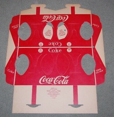 Coca Cola Triangle Cardboard Carrier New Flat
