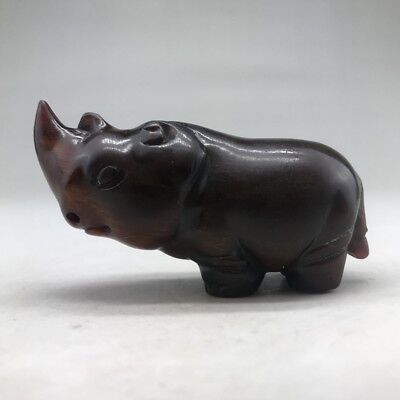 RARE AND ANCIENT CHINESE RHINOCEROS HOLDER MADE OF OX HORN g167