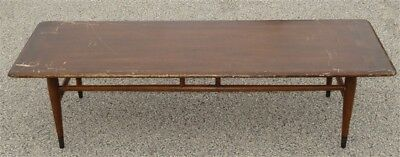 Mid Century Danish Modern Lane Dovetail Coffee Table * For Restoration * AS IS