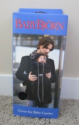 NIB BABY BJORN Winter COVER FOR BABY CARRIER BabyBjorn CITY BLACK Fleece $50 NEW