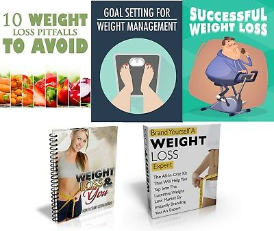 5 eBooks About Weight Loss & Manage eBook PDF with Resell Rights  Free Shipping.