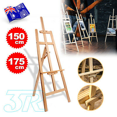 150cm/175cm Pine Wood Easel Artist Art Display Painting Tripod Stand Adjustable