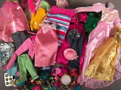 Barbie Doll Clothes & Similar Size HUGE LOT 100+ Pieces! Clothing Dress Shoes