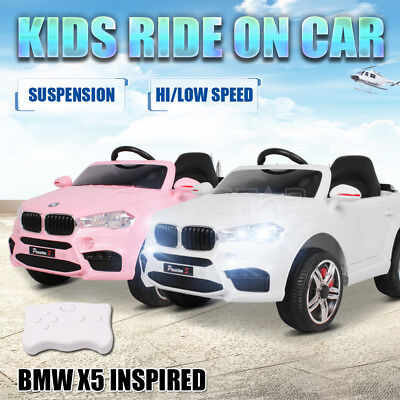 Electric Kids Ride On Car BMW X5 Inspired Children Remote Suspension Toys Gift