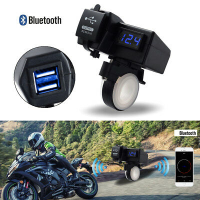 NEW Motorcycle Handlebar USB Charger LED Voltage Map Tracker Locate App Control