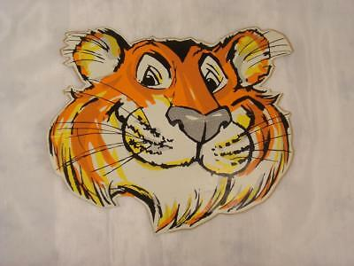 """VINTAGE 1960s 1970s 7"""" ESSO TIGER FACE STICKER PUT A TIGER IN YOUR TANK"""