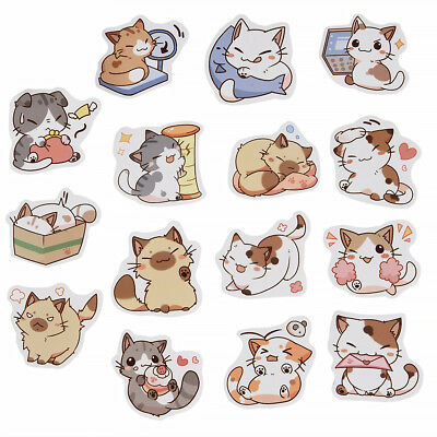 45pcs Kawaii Scrapbooking Stickers Mixed Cute Japanese Cat Set Decor Scrapbook