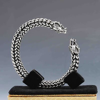 Collectable Tibet Silver Hand Carved Dragon Bracelet
