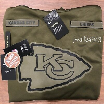 KANSAS CITY CHIEFS 2018 Mens Nike NFL Salute to Service Therma STS Hoodie New