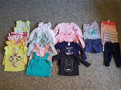 Bulk Lot Of 20 Baby Girls Shirts And Shorts Sized 00 And 0