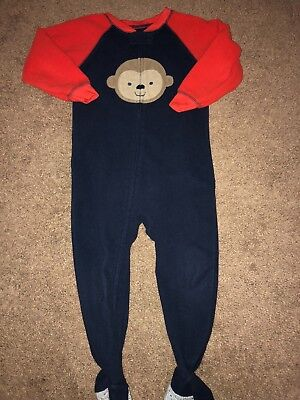 2t fleece footed pajamas lot of 4