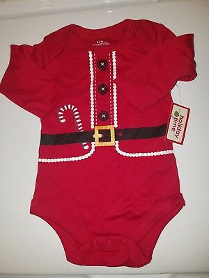 Holiday Time Infant Boy Girl Christmas Creeper  Bodysuit Size 0/3 Months NWT