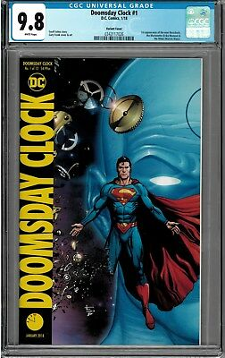 Doomsday Clock #1 CGC  9.8 NM SOLD OUT COLOR COVER B DC Superman vs Watchmen!!!