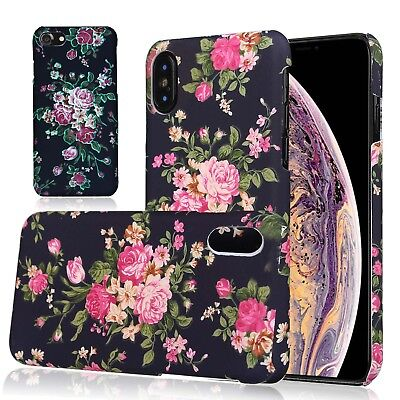 For Apple iPhone XS Max Flower Case for Girls Women, Floral Vintage Chic Cover