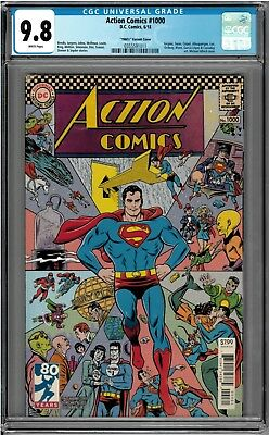 Action Comics #1000 CGC 9.8 NM 1960's Variant by Mike Allred!!!