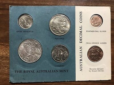 Complete uncirculated Royal Australian Mint Coin Sets From 1966 To 2019