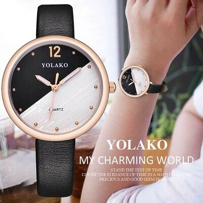 Women Lady Girl Student Wrist Quartz Watch Round Dial Fashion Watch For Business