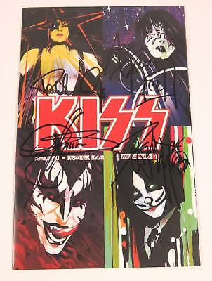 KISS Signed Autograph KISS Comic Book #1 by All 4 Paul Stanley, Gene, Ace, Peter