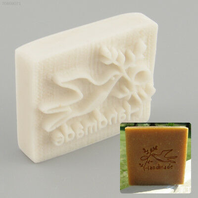 4554 E0DD Pigeon Desing Handmade Yellow Resin Soap Stamping Mold Craft Gift New