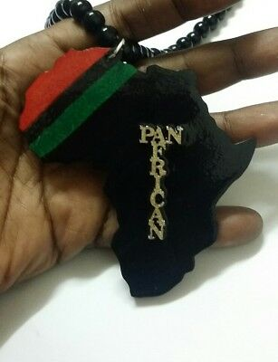 💃 *With Beads* 👉 PAN AFRICAN   STATEMENT PENDANT by- Bee's Expressive Ears