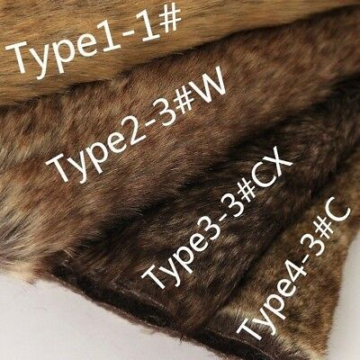Luxury Long Haired Pile Faux Fur Fabric Flutty Upholstery DIY Furry Cloth Brown