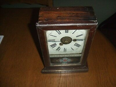 Vintage  Teutonia Clock Company  Mantel Clock With Alarm