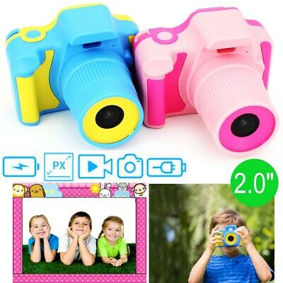 "Kids Children Digital Camera 2.0"" LCD Mini Cam Practical New Xmas Gift Blue/Pink"