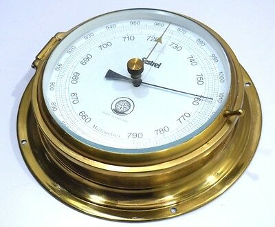 Aneroid barometer sestrel marine nautical ship`s Inch and millibar scale