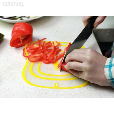 F0D3 Ultra-thin Plastic Fruit Vegetable Chopping Board Frosted Antibacteria Mat
