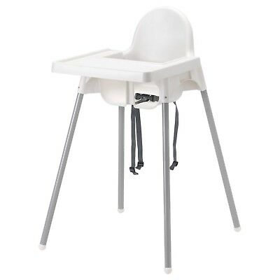 IKEA Antilop Baby High Chair With Safety Belt, White Colour
