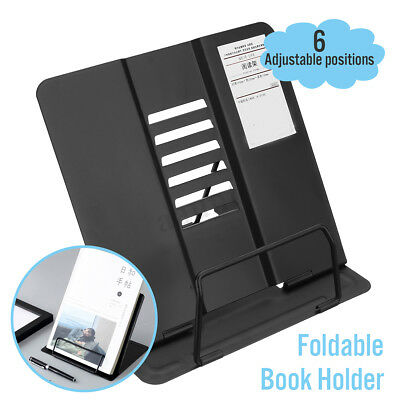 Steel Book Stand Bookstand Holder Desk Reading Rest Textbook Display Tabletop